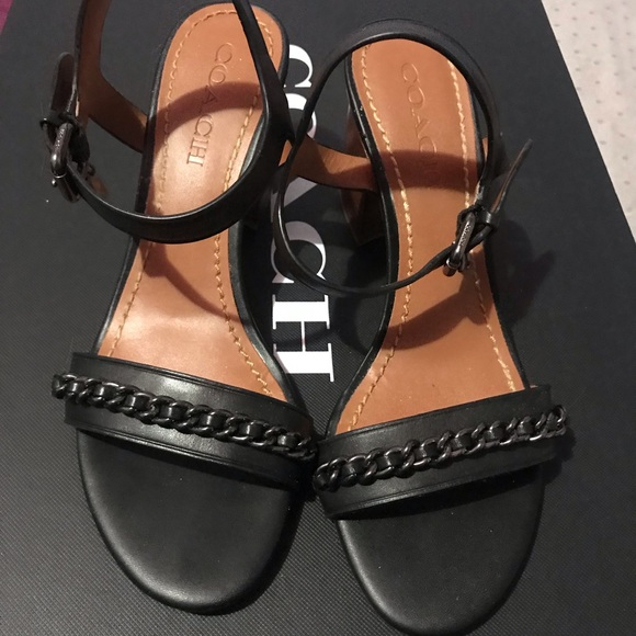 96effdbe4f3 Coach Shoes - COACH Mid Heel Chain Sandals